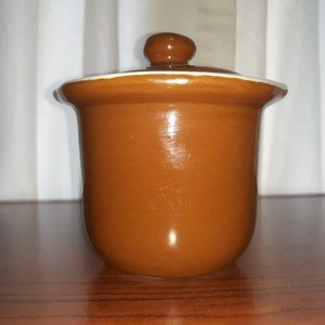Vintage Hall glazed clay creamer pitcher